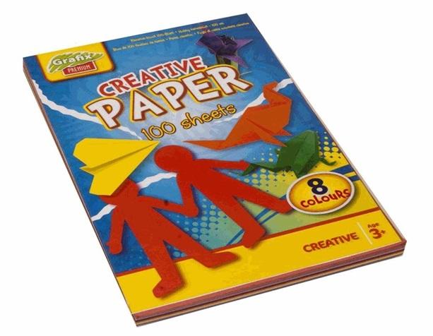 Caiet A4 cu 100 foi pentru origami - Grafix