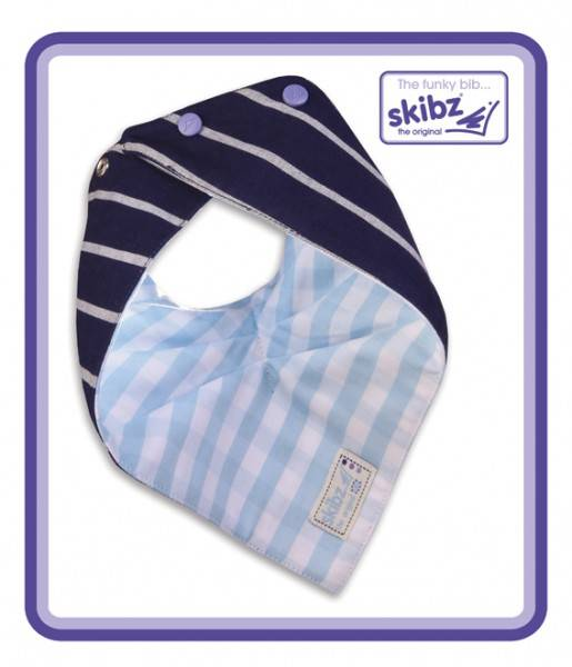 Doublez French StripePale Blue Gingham