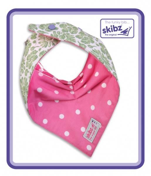 Doublez Green FloralPolka Dot Pink