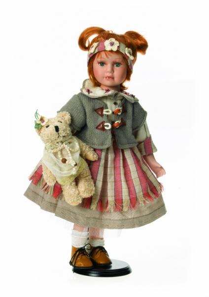 Fata cu vesta gri si urs de plus - 11811