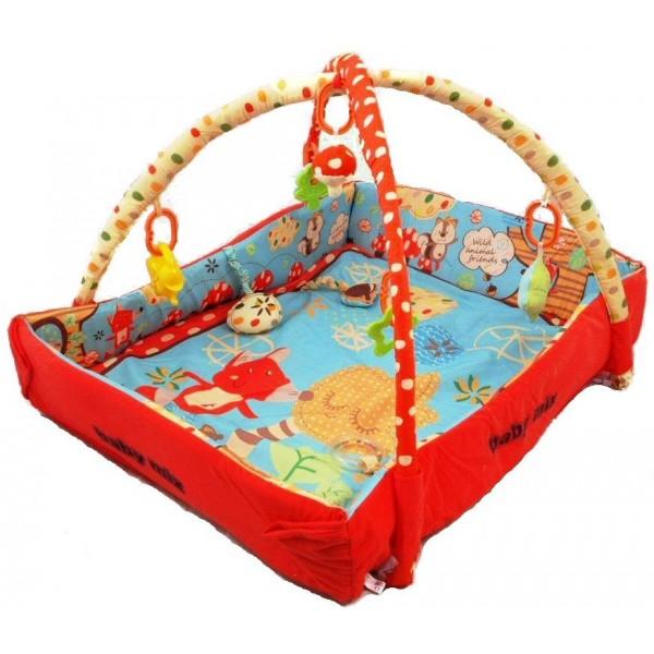 Saltea de joaca cu protectii laterale Wild Animals din categoria Camera copilului de la BABY MIX