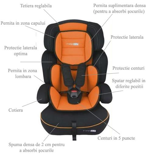 Scaun auto FreeMove Orange