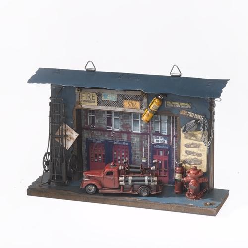 Panou decorativ Statie de pompieri imagine