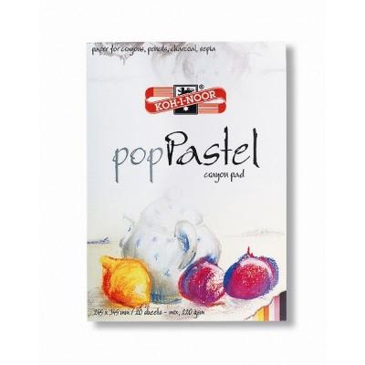 Bloc de desen, A3, 220 gmp, 20 file, diverse culori, KOH-I-NOOR Pop Pastel Mix
