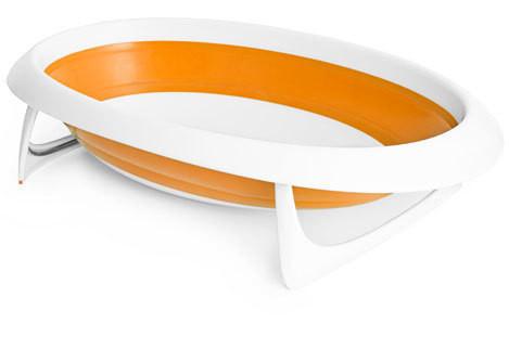 Cadita de baie pliabila portocaliu NAK