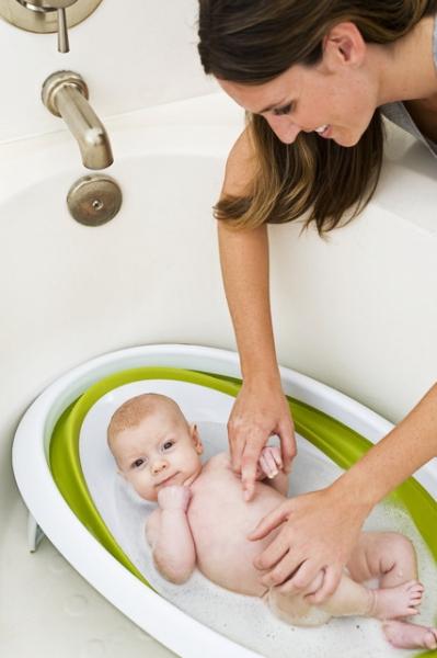 Cadita de baie pliabila verde NAKED