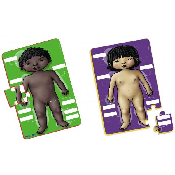 Joc puzzle educational corpul uman