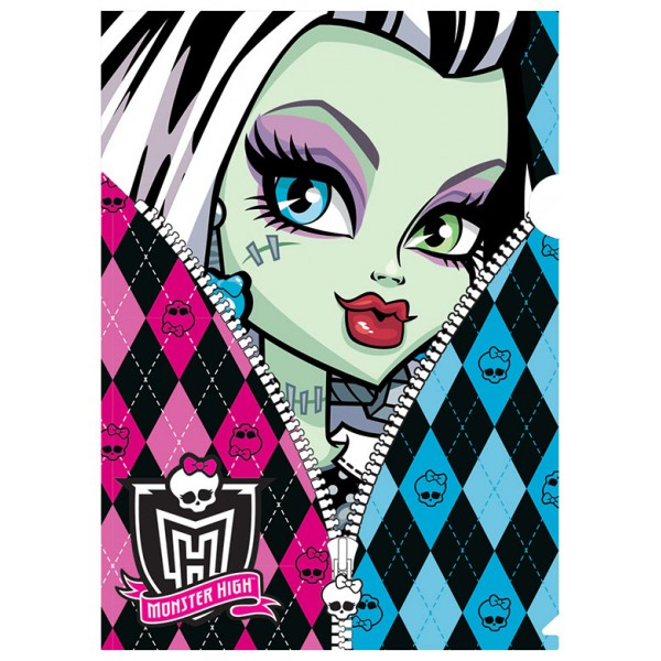 Mapa din plastic Monster High Zipper