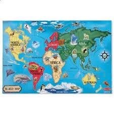 Puzzle de podea Harta Lumii