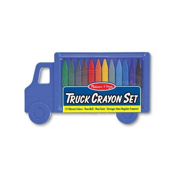 Set 12 creioane colorate triunghiulare Truck