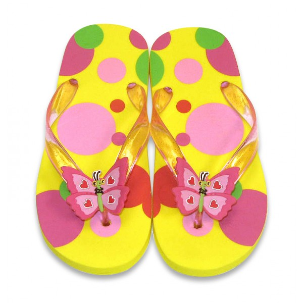 Papuci de baie  plaja copii Bella Butterfly, masura 24-25