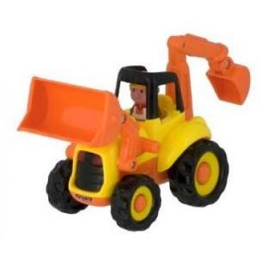 Tractor excavator cu sunete si lumini