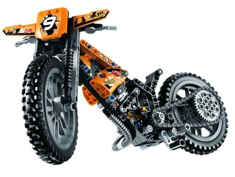 Motocicleta de motocros Lego Tehnic