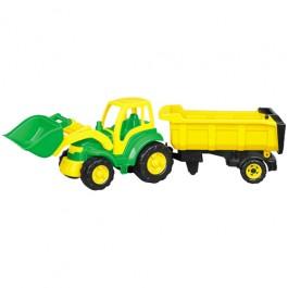Champion - tractor cu cupa si semiremorca Polesie