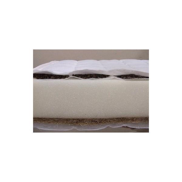 Saltea cocos-burete-hrisca 120x60x9 cm