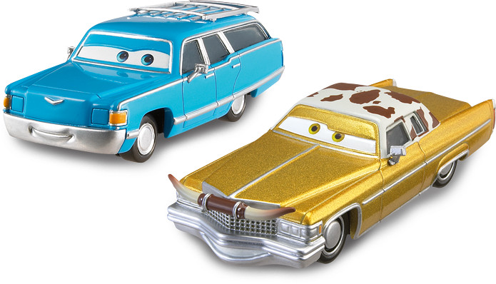 Set Masinute Cars 2 - Mrs.The King si Tex Dinoco