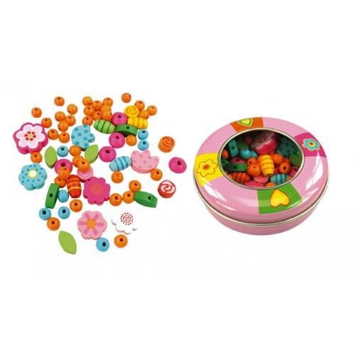 Замечательный набор бисера для девочек в металической коробочке.  Развивает творческие способности ребенка.