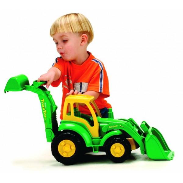 Tractor excavator Miniland cu 2 cupe