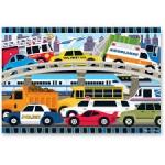 Puzzle de podea Blocaj in trafic-24 piese