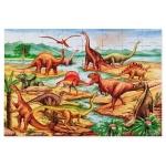 Puzzle de podea cu dinozauri