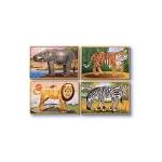Set 4 puzzle lemn in cutie-Animale salbatice