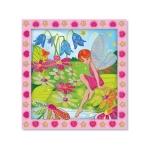 Set de creatie mozaic pe numere Gradina cu Flori