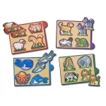 Cutie cu minipuzzle - Animale