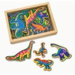 Dinozauri din lemn cu magneti
