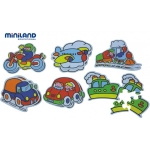 Puzzle tematic cu mijloace de transport 3-5 piese