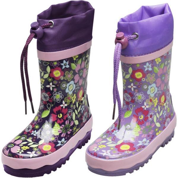 Cizme de cauciuc cu flori