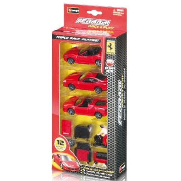 Ferrari Triple Pack Playset