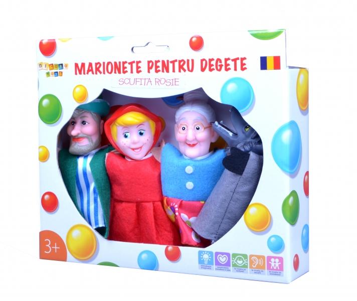Marionete pentru degete - Scufita rosie