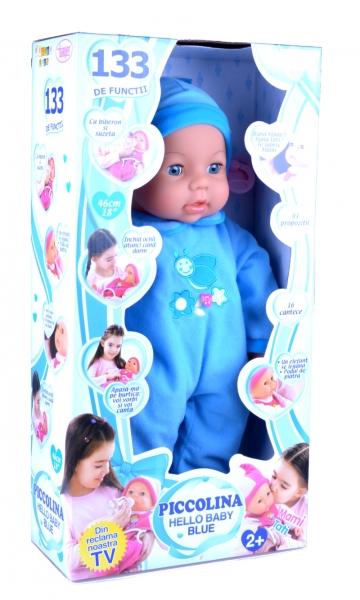 Papusa Picollina Hello baby blue