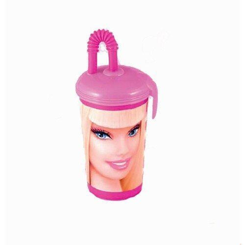 Pahar Plastic cu Pai Barbie
