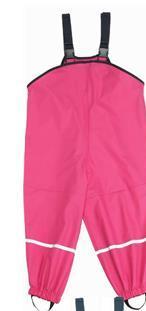 Pantaloni de ploaie cu bretele Roz