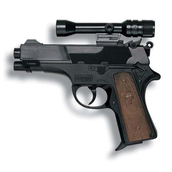 Pistol Leopard cu telescop