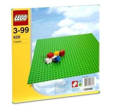 Placa verde Lego