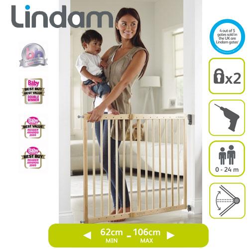 Poarta siguranta Extensibila din lemn Lindam
