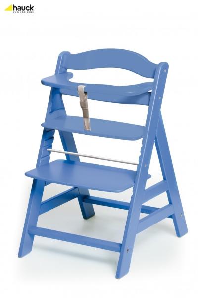 Scaun Masa din Lemn Alpha Light Blue
