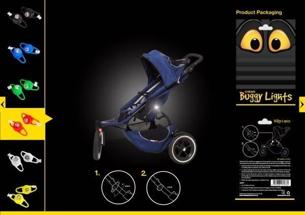 Semnalizatoare luminoase pentru carucioare si biciclete Proviz alb - 2