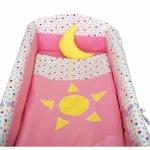 Lenjerie de patut bebe Soarele si Luna