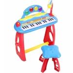 Orga electronica cu microfon scaunel