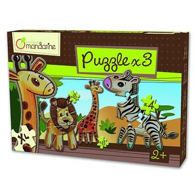 3 Puzzle Animale Savana
