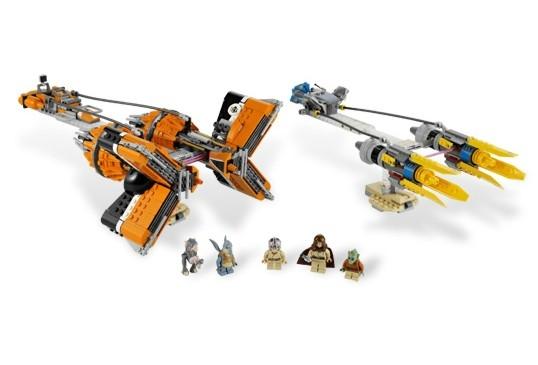 Anakin Skywalker and Sebulbas Podracers - din seria LEGO STAR WARS