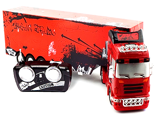 Camion cu semiremorca (0202D) cu Telecomanda, Scara 132