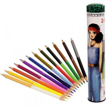 Creioane colorate duble