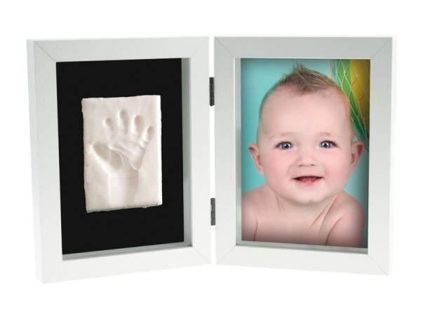 Kit amprenta bebelus 2D My First Print of Frame Kidzzcast culoare alb