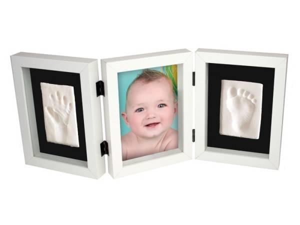 Kit amprenta My First Hand and Foot Impression Kidzzcast culoare alb
