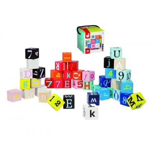 Set cuburi Litere si cifre - Kubix - 40