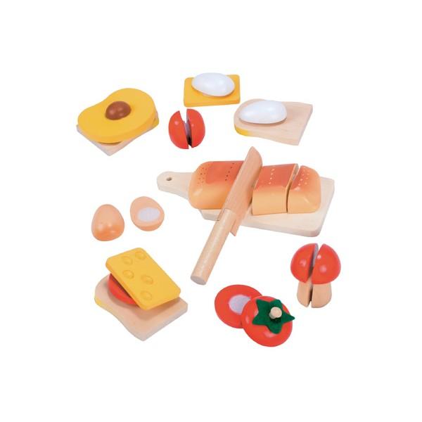 Set de alimente din lemn